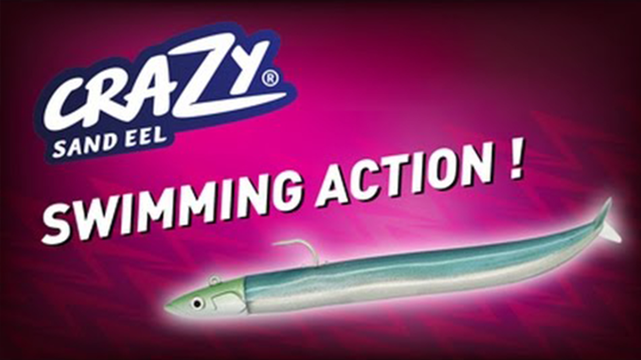 Crazy Sand Eel – action de nage / Swimming action