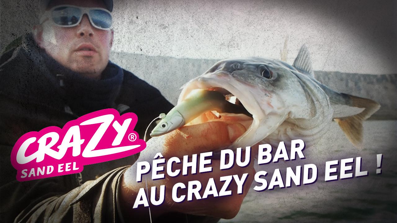 Pêche du bar en Normandie au Crazy Sand Eel